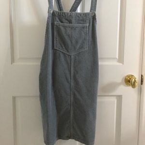 TopShop corduroy baby blue overall dress